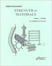 Cover of: Zero Challenge Strength of Materials, Vol. 1
