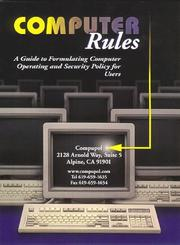 Cover of: Computer Rules | Randal F. Fleury