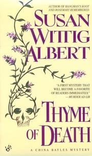 Cover of: Thyme of Death (China Bayles 1)