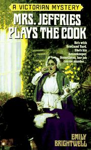 Cover of: Mrs. Jeffries Plays the Cook (Victorian Mystery)