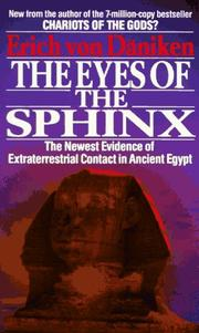 Cover of: The eyes of the Sphinx by Erich von Däniken