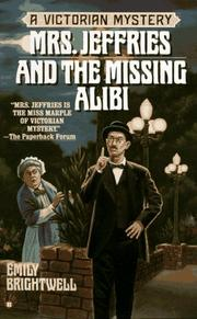 Cover of: Mrs. Jeffries and the Missing Alibi (Victorian Mystery)