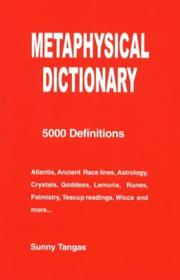 Cover of: Metaphysical Dictionary | Sunny Tangas