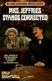 Cover of: Mrs. Jeffries Stands Corrected (Victorian Mystery)
