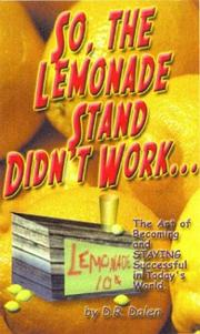 Cover of: So, the Lemonade Stand Didn't Work