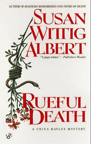 Cover of: Rueful Death | Susan Wittig Albert