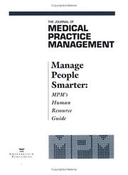 Cover of: Manage People Smarter
