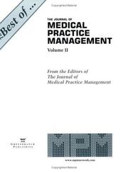 Cover of: The Best of The Journal of Medical Practice Managment, Volume II