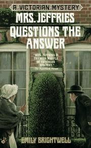 Cover of: Mrs. Jeffries Questions the Answer (Victorian Mystery)