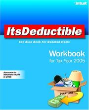 Cover of: ItsDeductible Workbook for Tax Year 2005 | Intuit