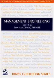 Cover of: Management Engineering