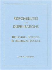 Cover of: Responsibilities and Dispensations |