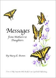 Cover of: Messages from Mothers to Daughters | Mary E. Brown