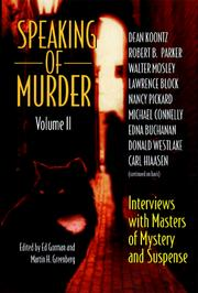 Cover of: Speaking of murder | edited by Ed Gorman and Martin H. Greenberg.