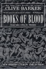 Books of Blood Volume One by Clive Barker