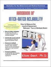 Cover of: Handbook of Inter-Rater Reliability by