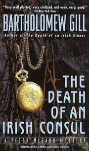 Cover of: The Death of An Irish Counsul (Peter McGarr Mysteries)