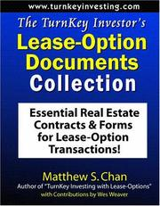Cover of: The TurnKey Investor's Lease-Option Documents Collection
