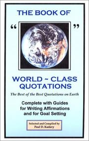 Cover of: The Book of World-Class Quotations