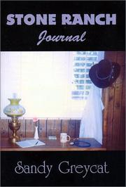 Cover of: Stone Ranch Journal