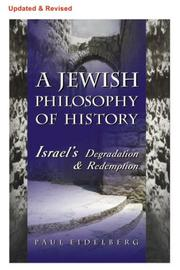 Cover of: A Jewish Philosophy of History | Paul Eidelberg