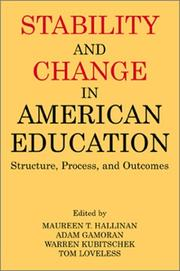 Cover of: Stability and Change in American Education |