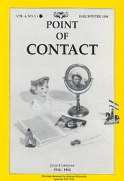 Cover of: Julio Cortazar 1914-1984 (Point of Contact) |