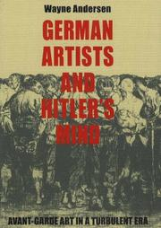 Cover of: German Artists and Hitler