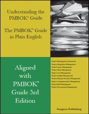 Cover of: Understanding the PMBOK Guide - The PMBOK Guide in Plain English