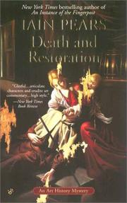 Cover of: Death and restoration: a Jonathan Argyll mystery