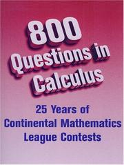Cover of: 800 Questions in Calculus | Gary Litvin