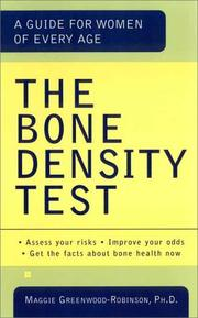 Cover of: The bone density test