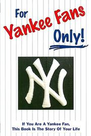 Cover of: For Yankee Fans Only