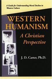 Cover of: Western Humanism A Christian Prespective | John D. Carter