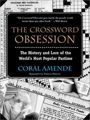 Cover of: The Crossword Obsession
