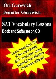 Cover of: SAT Vocabulary Lessons | Ori Gurewich
