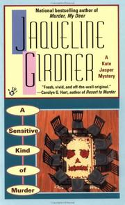 Cover of: A sensitive kind of murder