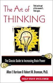 Cover of: The art of thinking | Allen F. Harrison