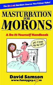 Cover of: Masturbation for Morons