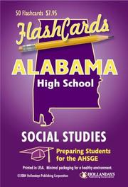 Cover of: Alabama AHSGE Test Social Studies Flashcards | Hollandays Publishing Staff