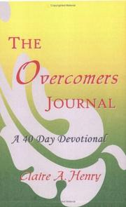 Cover of: The Overcomers Journal | Claire A. Henry