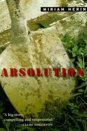Cover of: Absolution | Miriam Herin