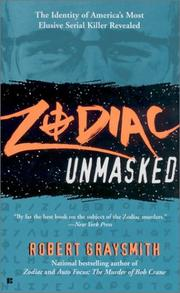 Cover of: Zodiac Unmasked | Robert Graysmith