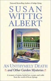 Cover of: An unthymely death and other garden mysteries