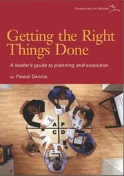 Cover of: Getting the Right Things Done