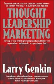Cover of: Thought Leadership Marketing | Larry Genkin