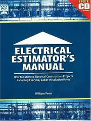 Cover of: Electrical Estimator's Manual