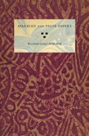Cover of: Marbled and Paste Papers