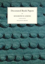 Decorated book papers by Rosamond B. Loring