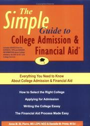 Cover of: The Simple Guide to College Admission & Financial Aid | Anne M. St. Pierre